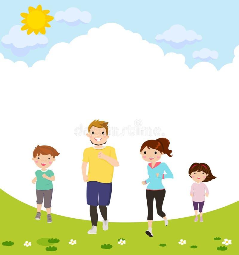 Glücklicher Familienbetrieb stock abbildung