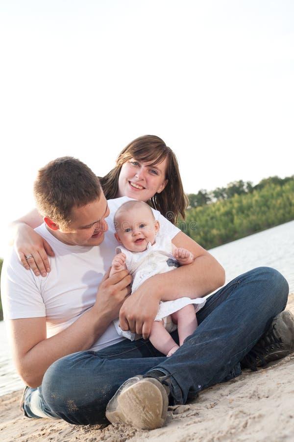 Glücklicher Familientag lizenzfreie stockbilder