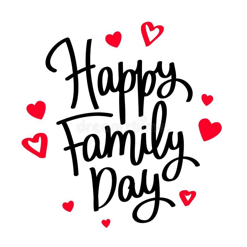 Glücklicher Familientag kalligraphie vektor abbildung