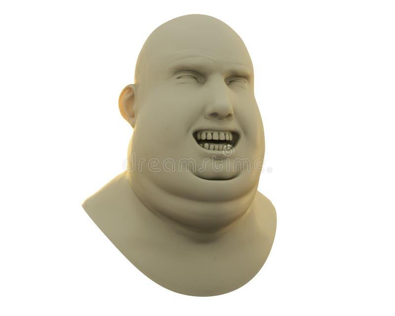 Glücklicher fetter Mann stock abbildung