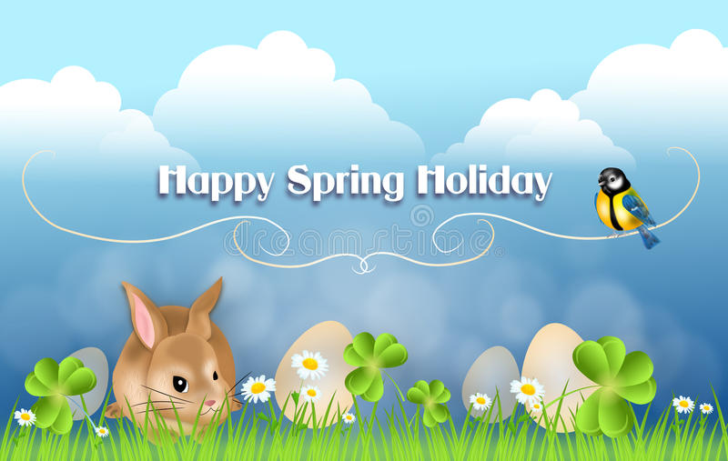 Glücklicher Frühlingsfeiertag stock abbildung