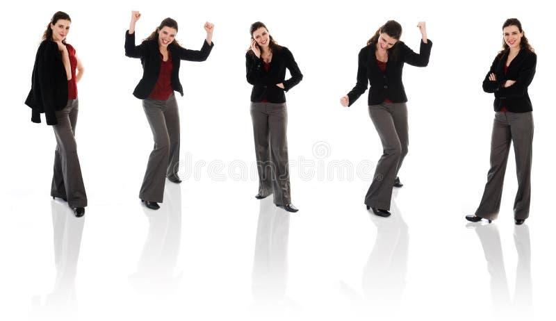 Glücklicher Frauen-Klon stockbilder