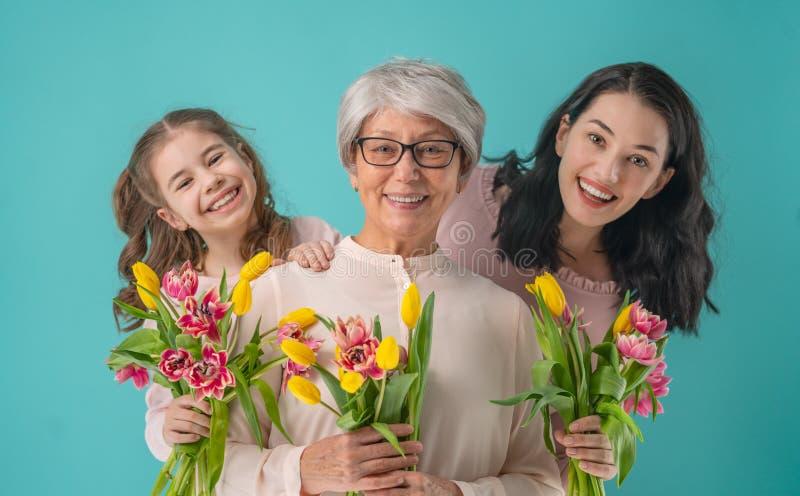 Glücklicher Frauen ` s Tag stockbild