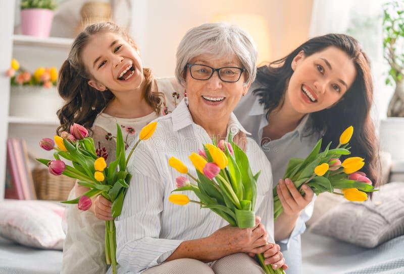 Glücklicher Frauen ` s Tag lizenzfreie stockbilder