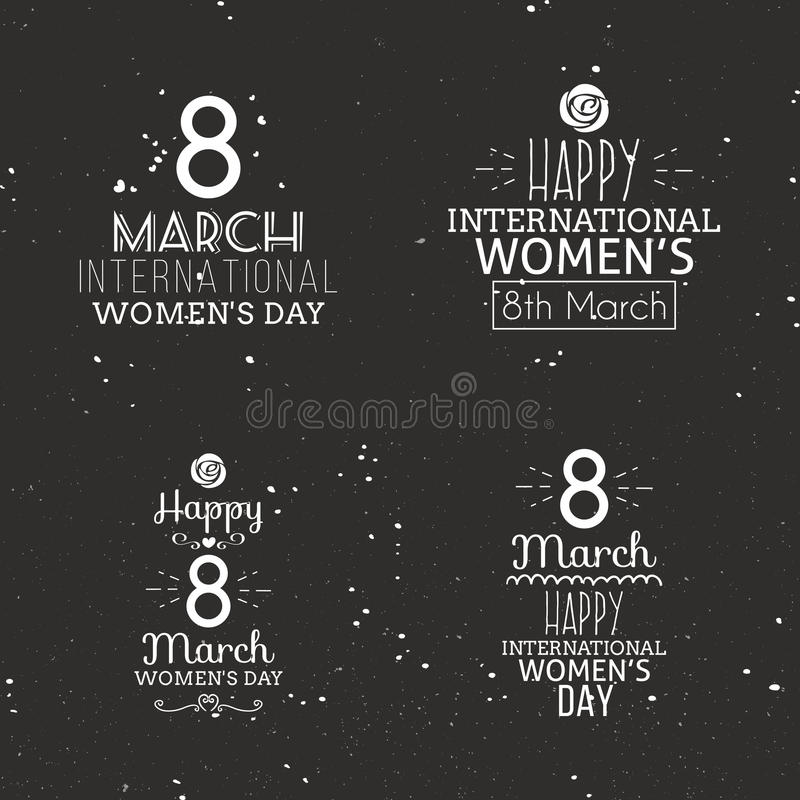 Glücklicher Frauentag stock abbildung
