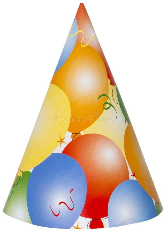 Glücklicher Geburtstagsfeier-Hut lokalisiert, png lizenzfreie stockfotos