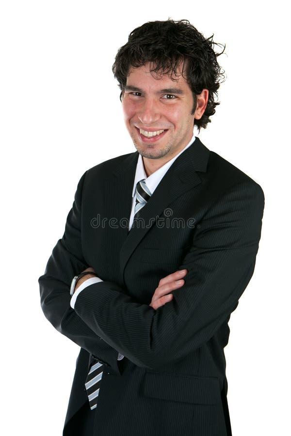 Glücklicher Geschäftsmann lizenzfreie stockfotografie