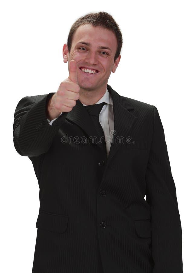 Glücklicher Geschäftsmann stockbild