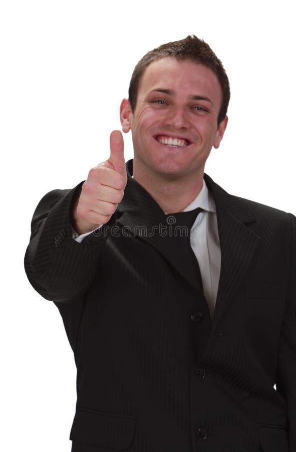Glücklicher Geschäftsmann lizenzfreies stockbild