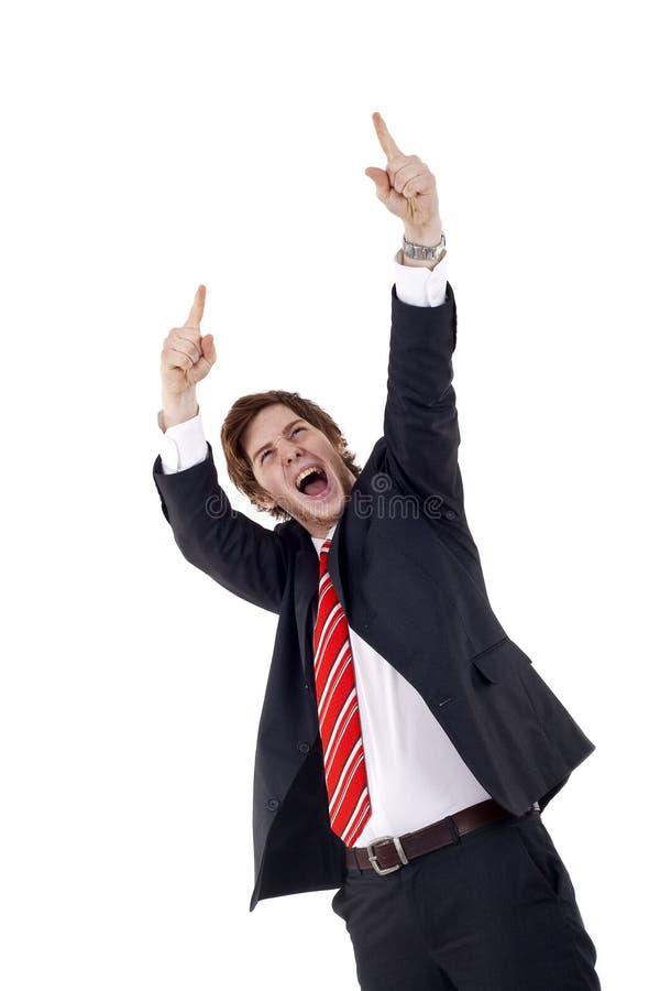 Glücklicher Geschäftsmann lizenzfreie stockbilder