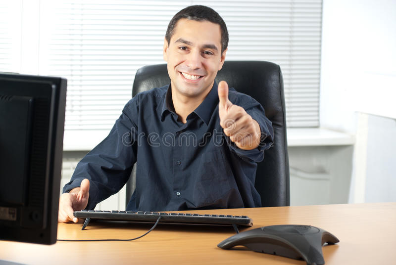 Glücklicher Geschäftsmann lizenzfreie stockfotos
