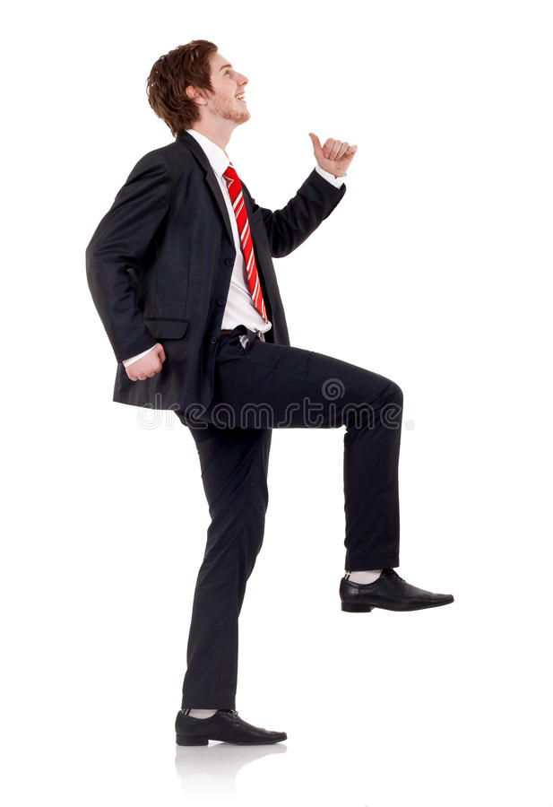 Glücklicher Geschäftsmann stockbilder