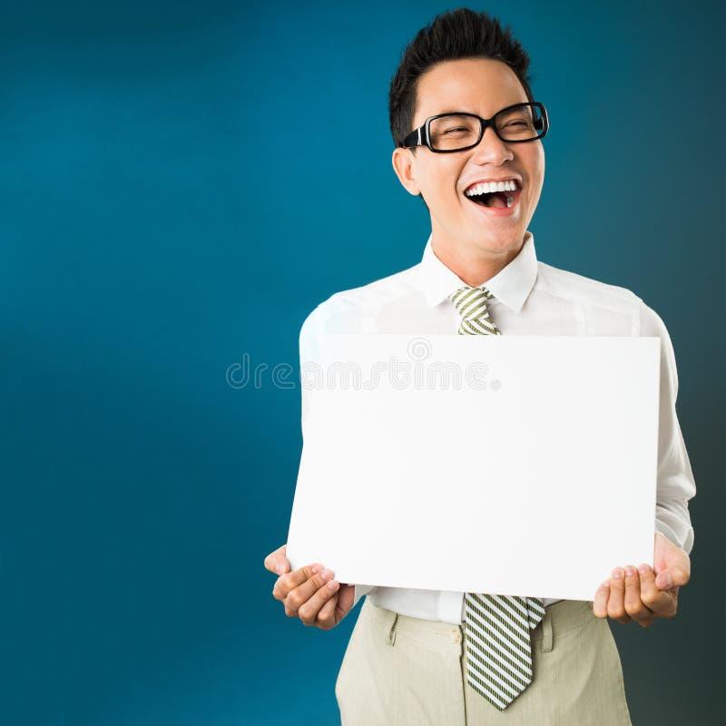 Glücklicher Geschäftsmann stockfoto