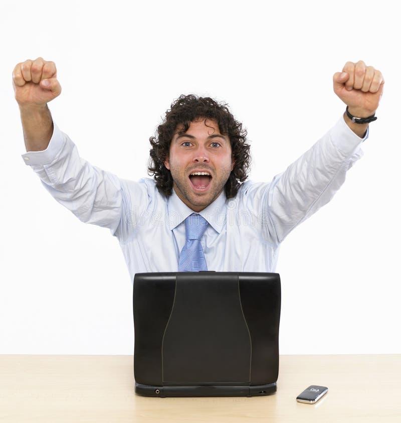 Download Glücklicher Geschäftsmann stockfoto. Bild von fachmann - 9088882