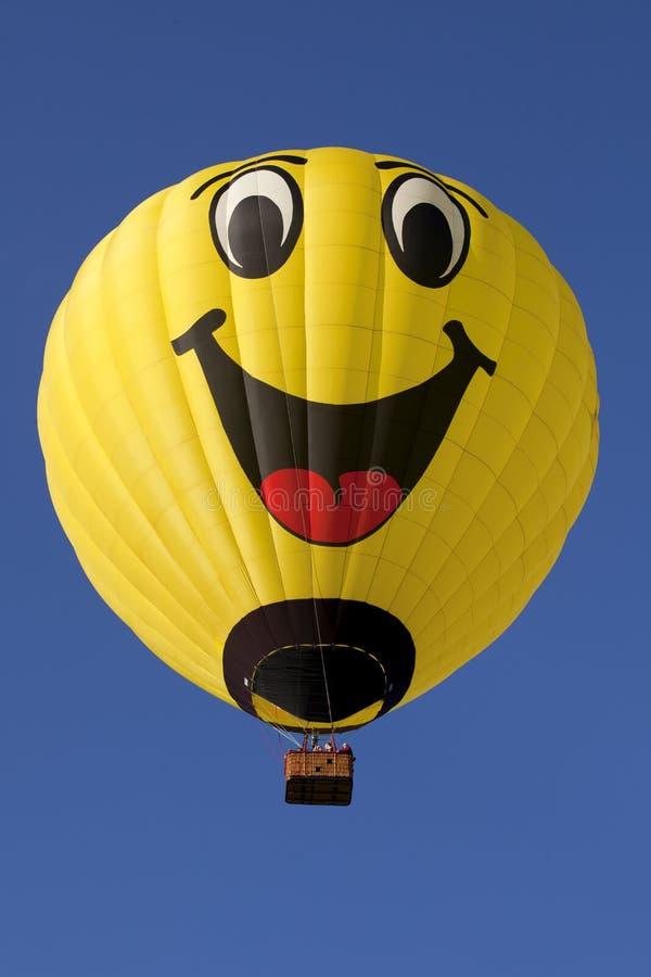Glücklicher Gesichts-Heißluft-Ballon stockfotografie