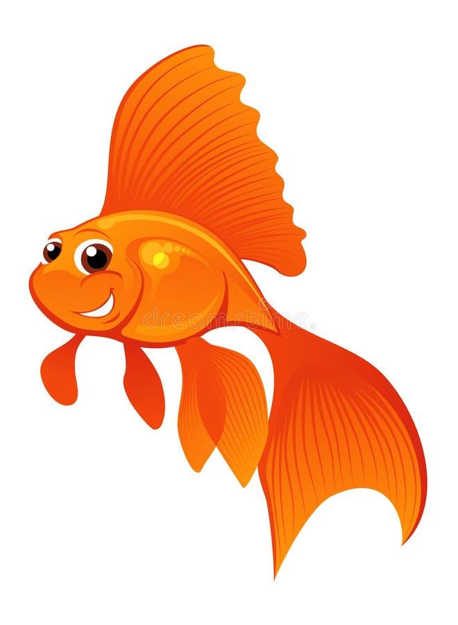 Glücklicher Goldfish stock abbildung