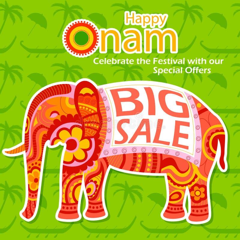 Glücklicher großer Verkauf Onam vektor abbildung