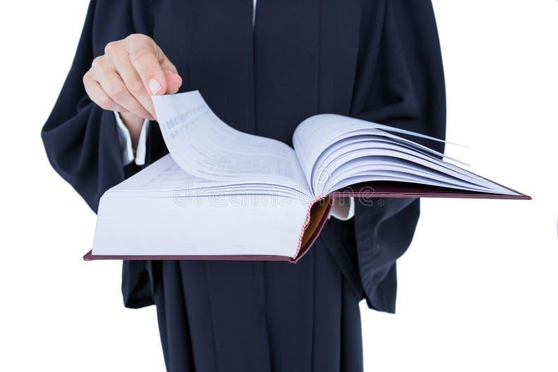 Glücklicher hübscher Rechtsanwaltholding-Arbeitscode stockbilder