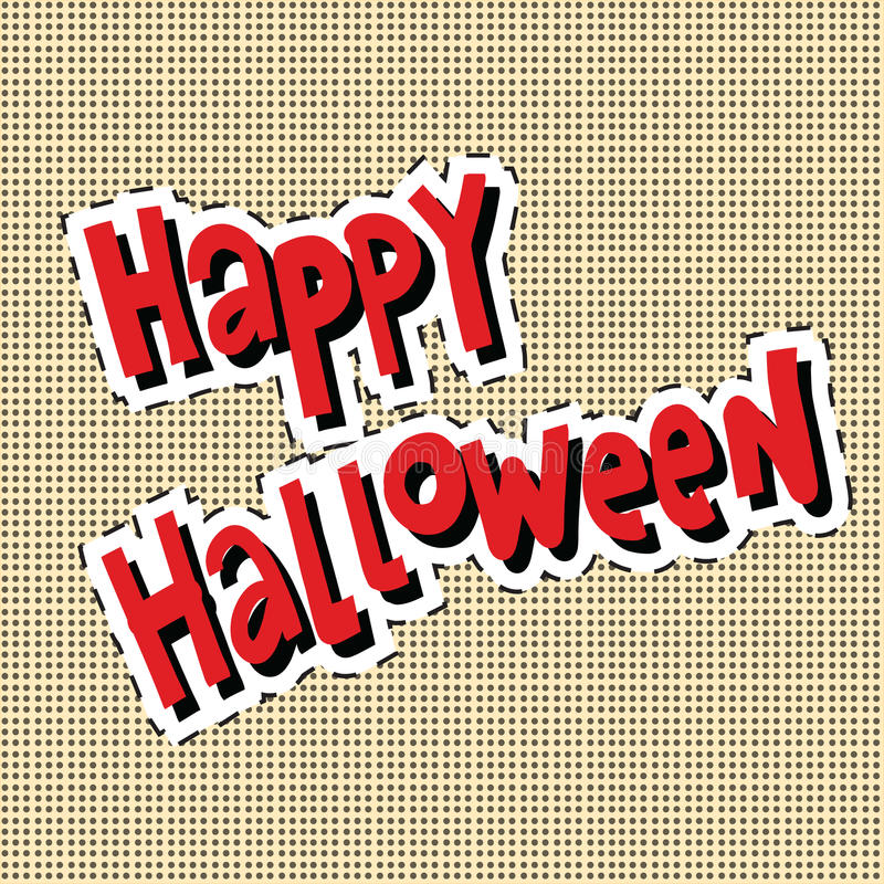 Glücklicher Halloween-Aufkleber stock abbildung