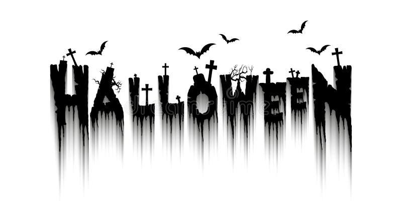 Glücklicher Halloween-Hintergrund lizenzfreie abbildung
