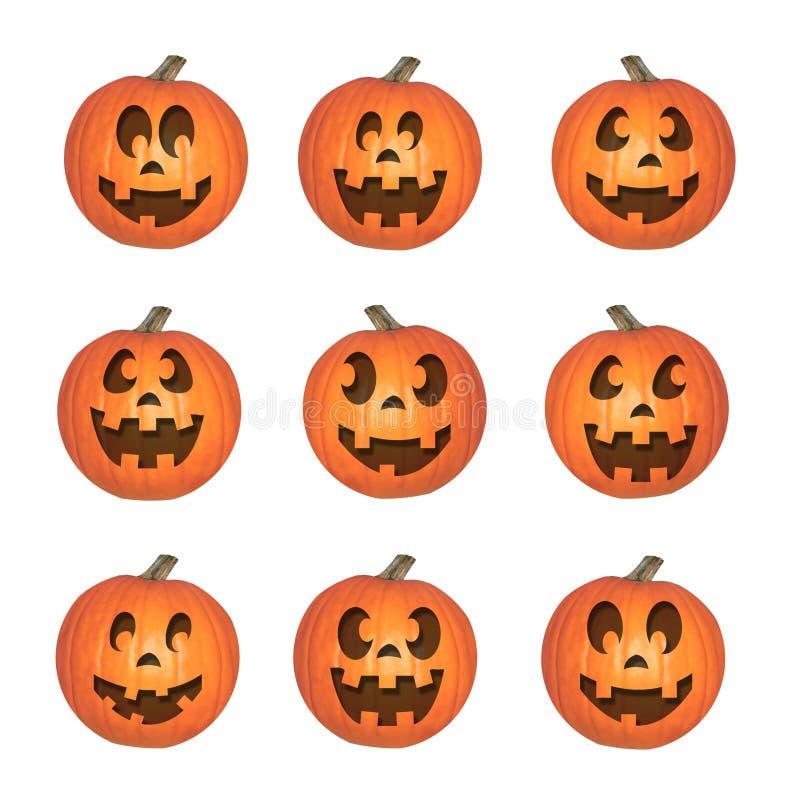 Glücklicher Halloween-Kürbis-Satz vektor abbildung