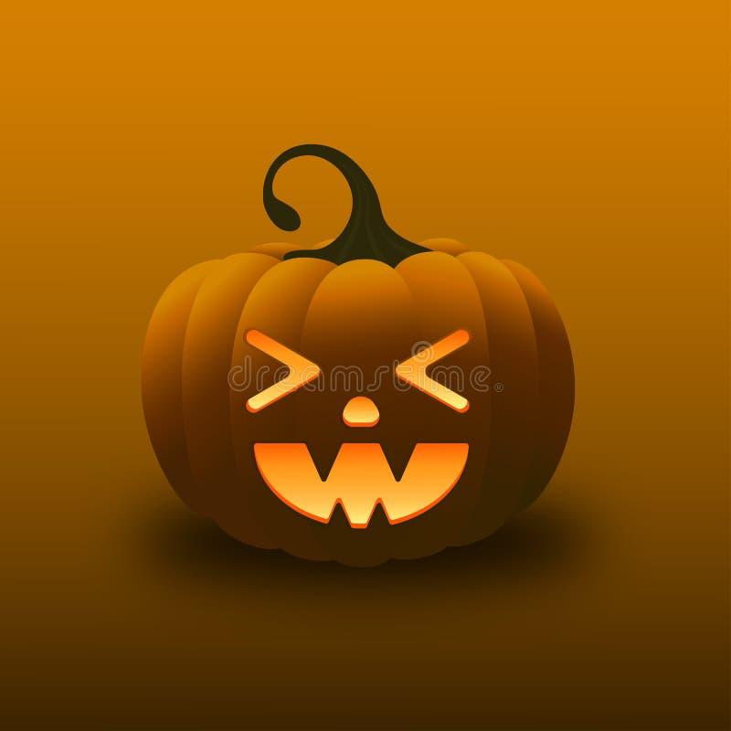 Glücklicher Halloween-Lächeln-Steigungs-Kürbis stockbilder