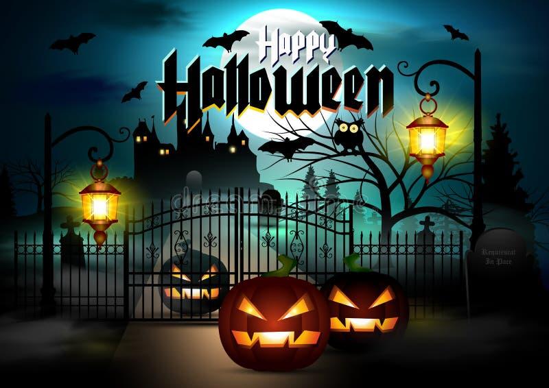 Glücklicher Halloween-Vektor lizenzfreies stockfoto
