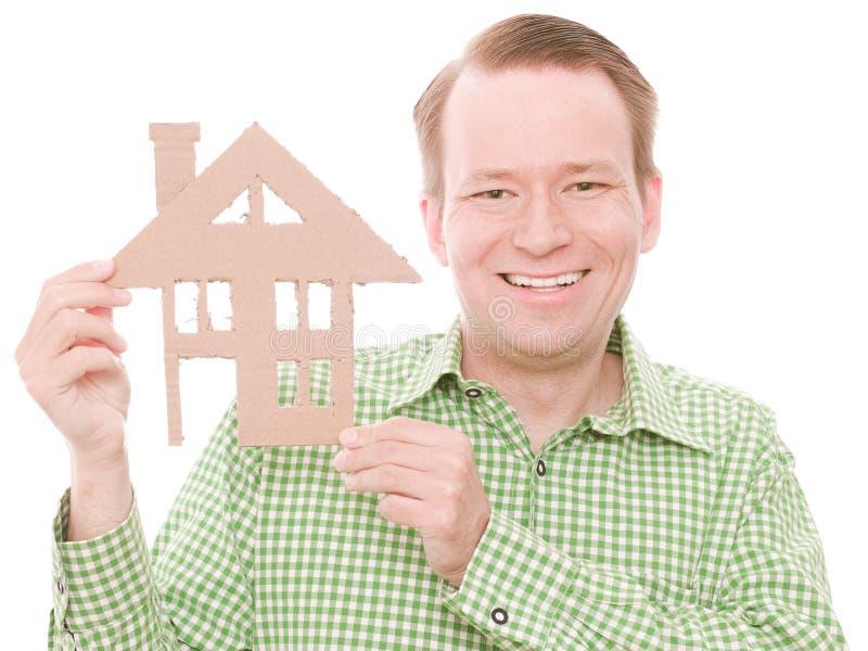 Glücklicher Hauseigentümer lizenzfreie stockfotos