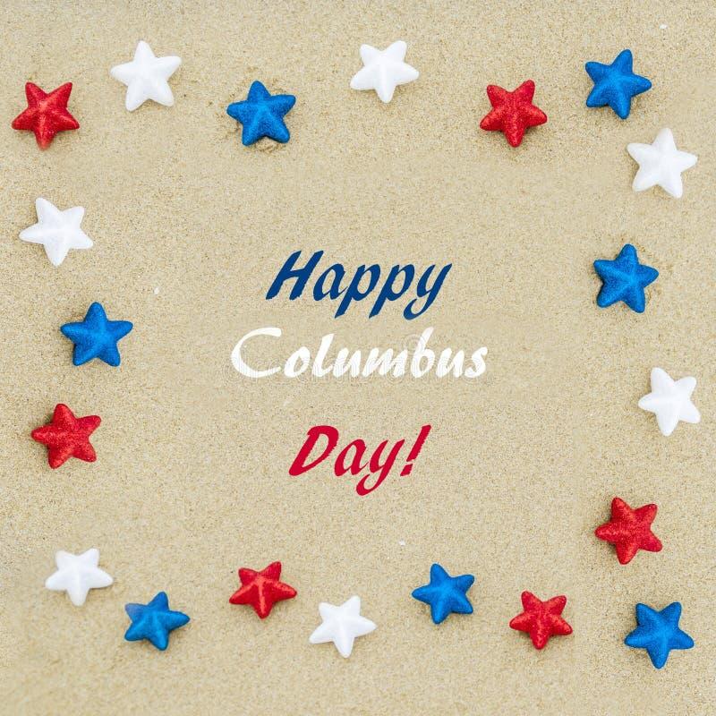 Glücklicher Hintergrund Columbus Days USA lizenzfreie stockfotografie