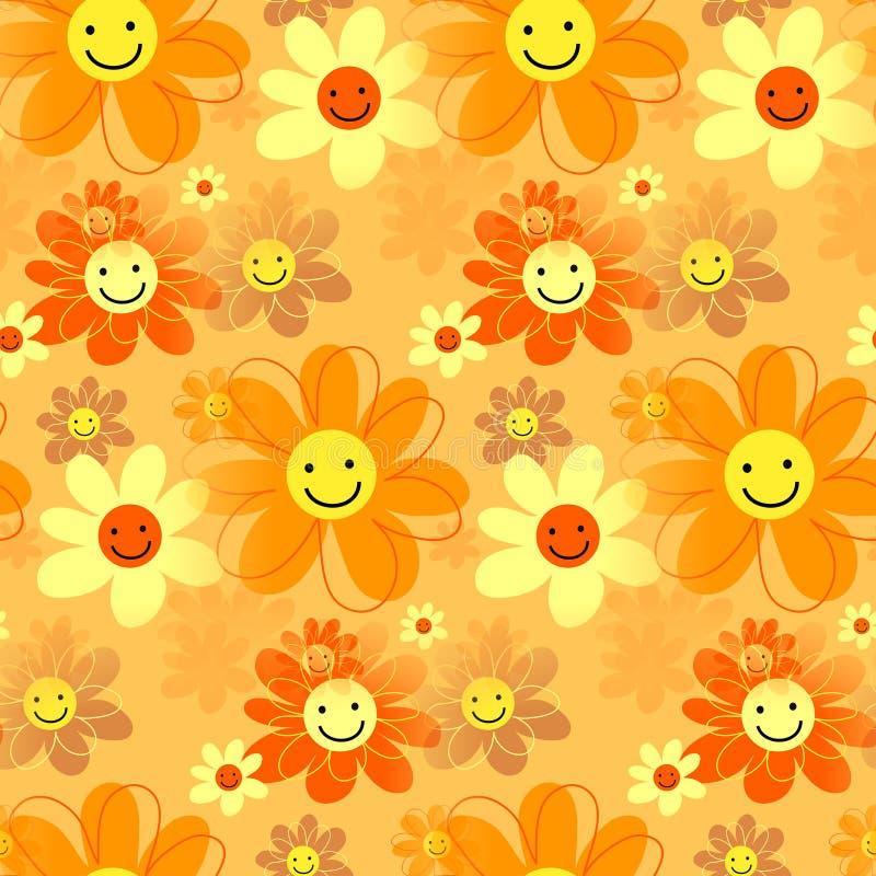 Glücklicher Hippie Retro- Daisy Flowers lizenzfreie abbildung