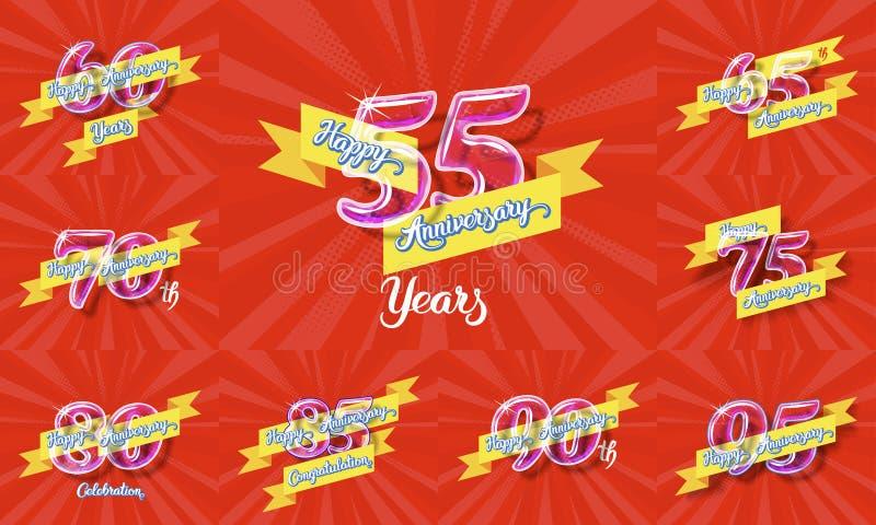 Glücklicher Jahrestag 2 stock abbildung