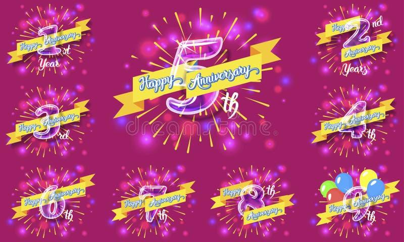 Glücklicher Jahrestag 2 lizenzfreie abbildung
