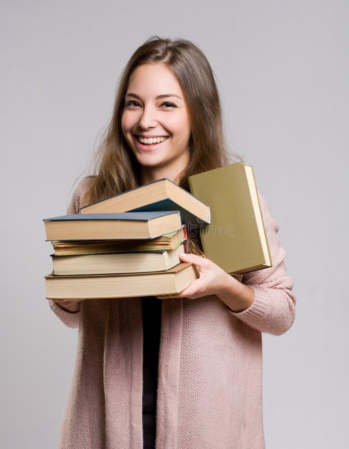 Glücklicher junger Student. lizenzfreies stockbild