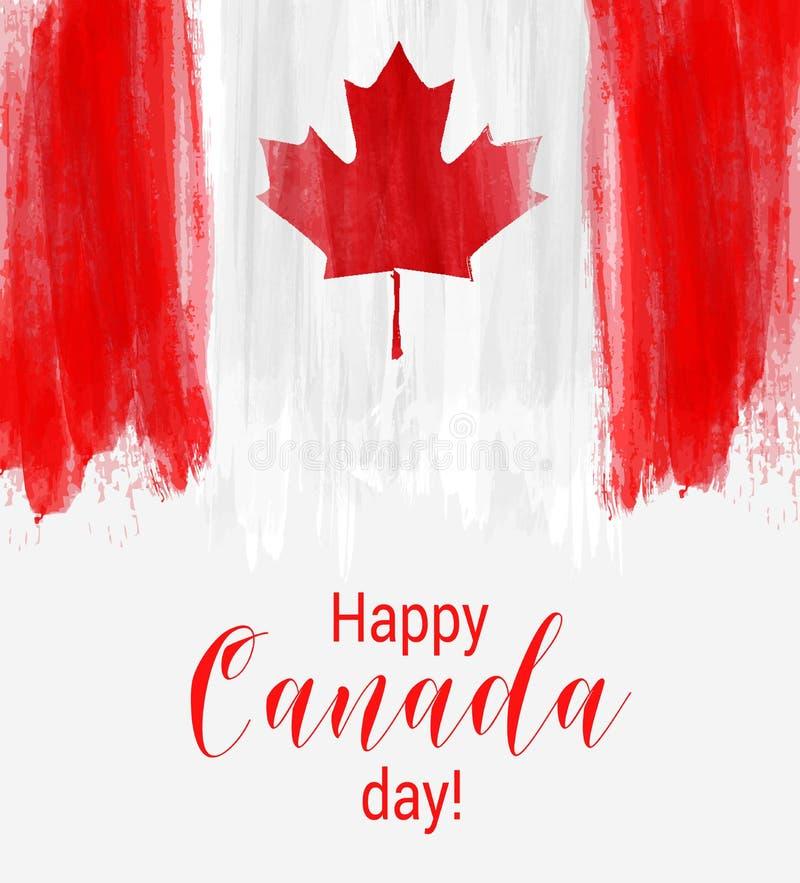 Glücklicher Kanada-Tageshintergrund lizenzfreie abbildung