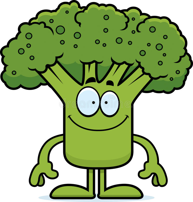 Glücklicher Karikatur-Brokkoli vektor abbildung