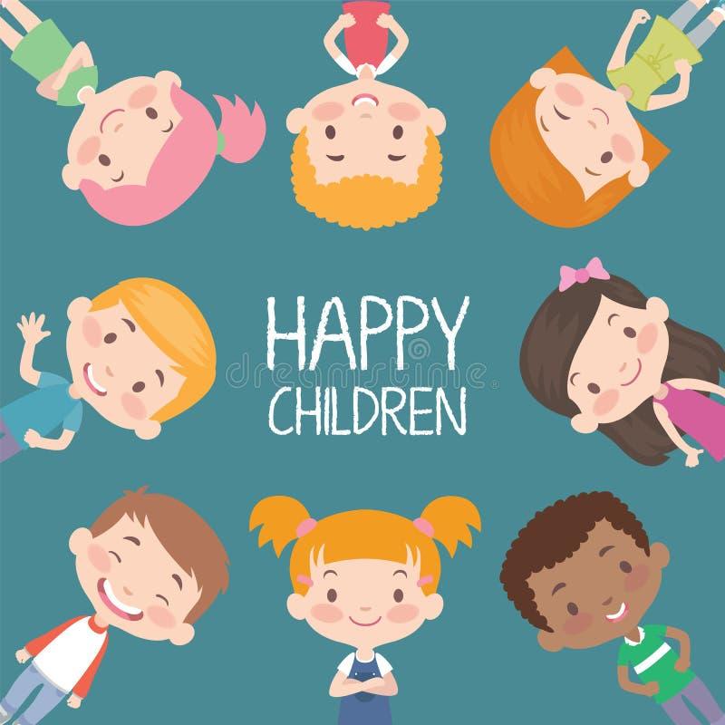 Glücklicher Kindervektor lizenzfreie abbildung