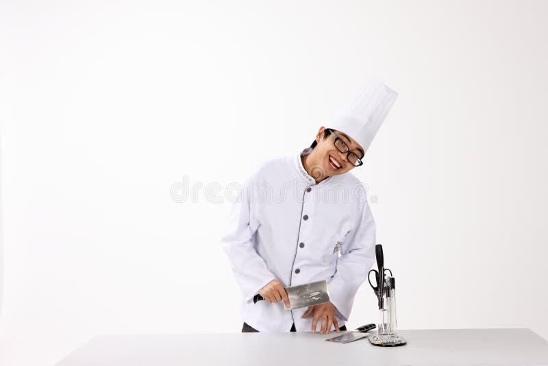 Glücklicher Koch lizenzfreie stockbilder