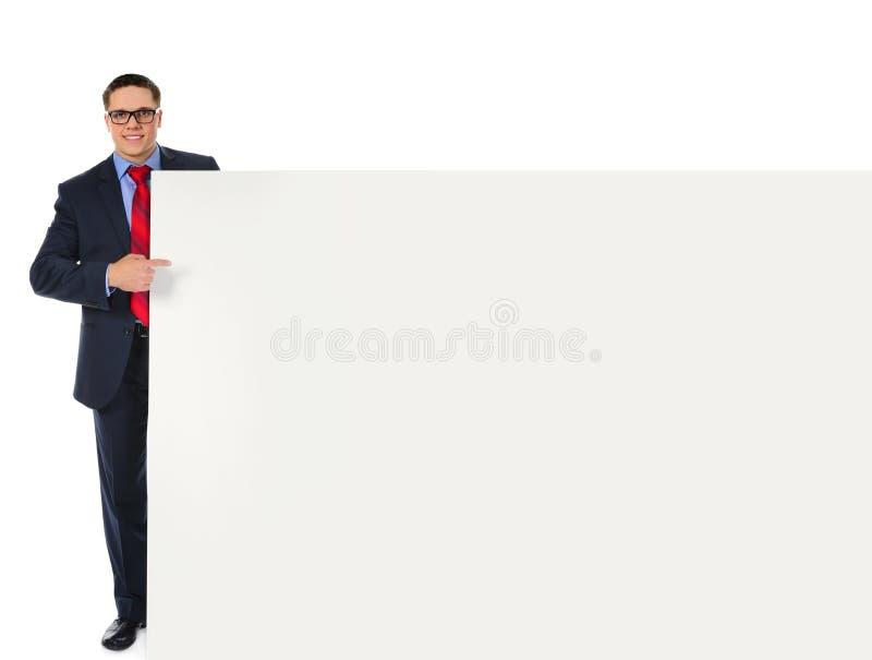 Glücklicher lächelnder Geschäftsmann stockfoto