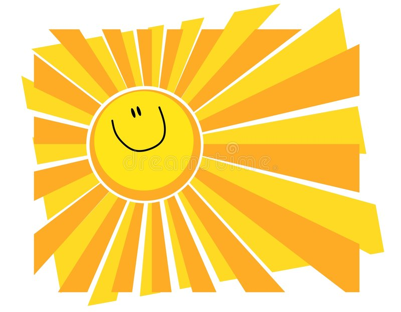 Glücklicher lächelnder Sun-Sommer-Hintergrund lizenzfreie abbildung