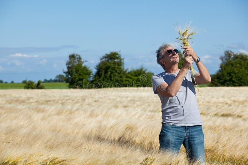 Glücklicher Landwirt. lizenzfreie stockfotografie