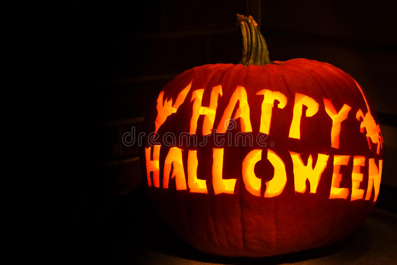 Glücklicher Laterne-Kürbis Halloween-Jack O lizenzfreie stockbilder