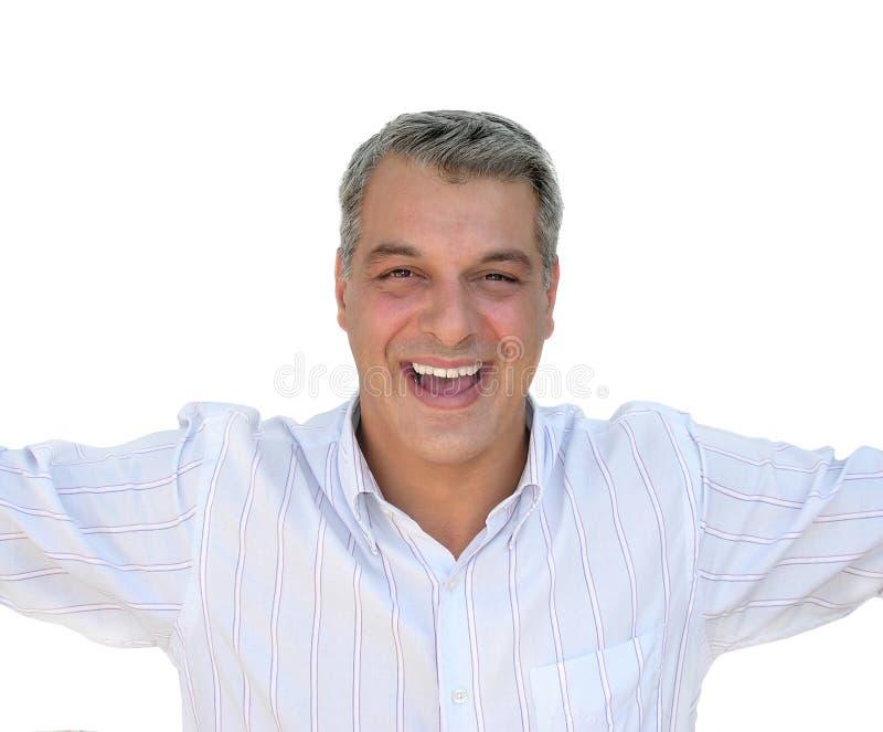 Download Glücklicher Mann stockbild. Bild von gesticulation, investierung - 23989