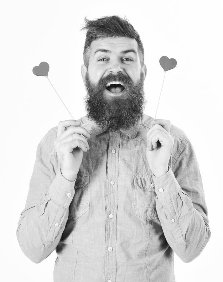 Glücklicher Mann mit dem frohen Gesicht bereit zum Datum stockfotografie