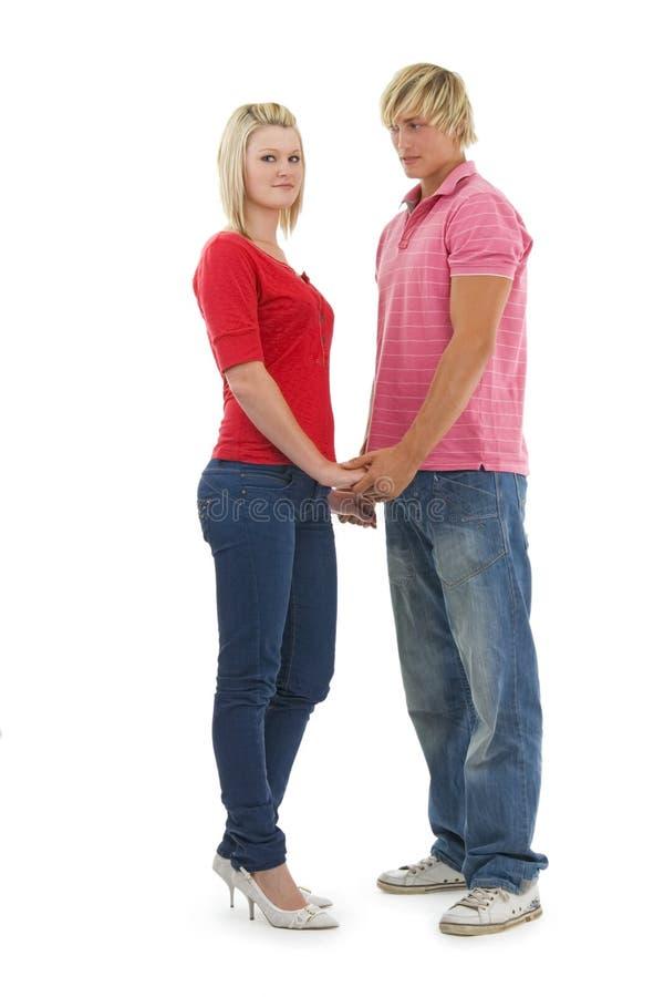 Glücklicher Mann und Frau. stockbild