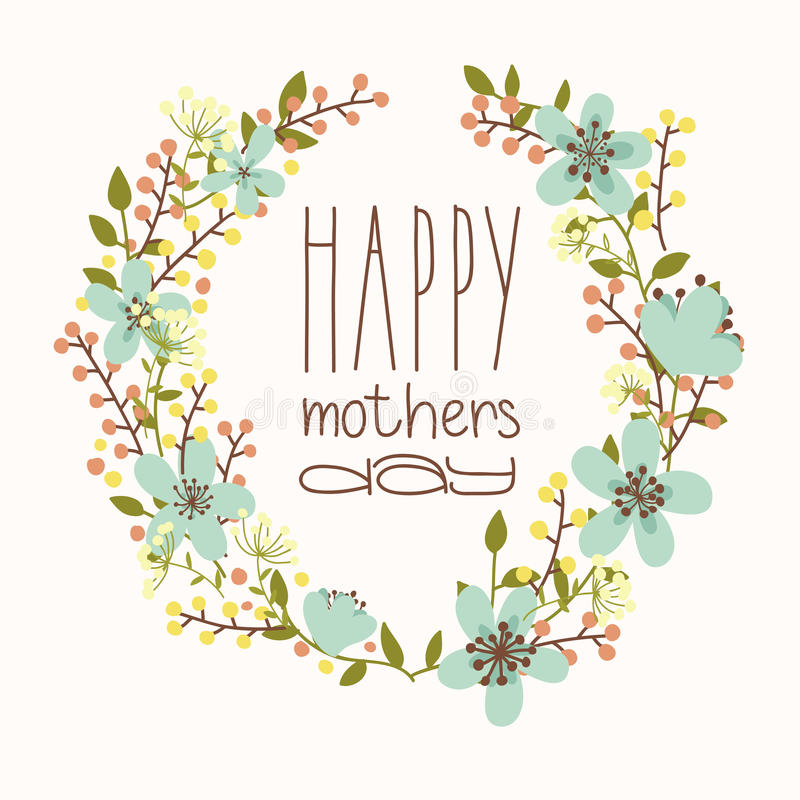 Glücklicher Muttertag vektor abbildung