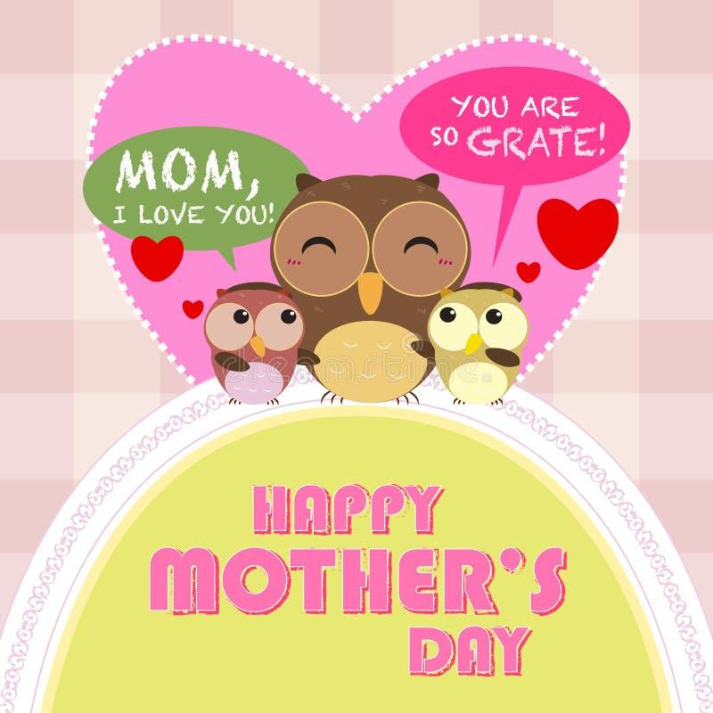 Glücklicher Muttertag, netter Hintergrund lizenzfreie abbildung