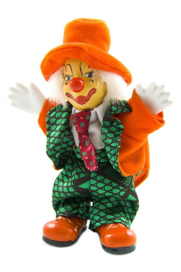 Glücklicher orange Clown lizenzfreie stockfotos