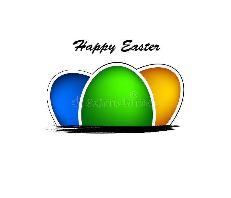 Glücklicher Ostern-Hintergrund Stockbild