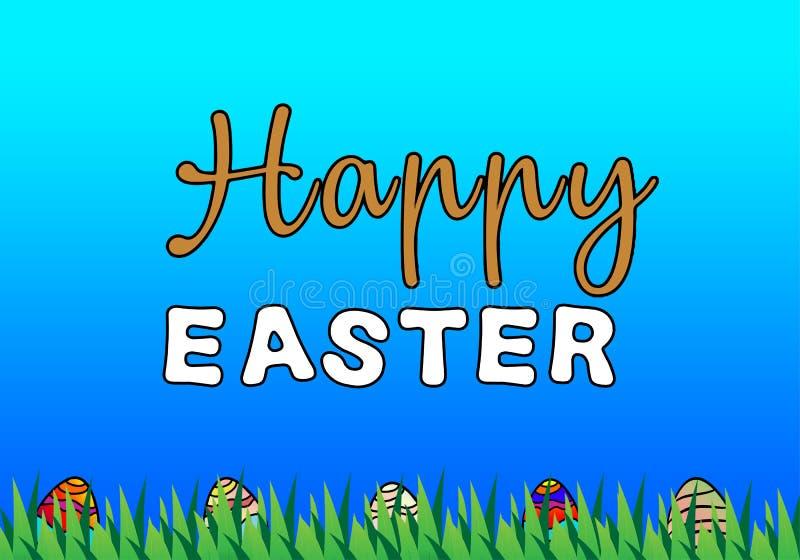 Glücklicher Ostern-Illustrationshintergrund stockfotografie