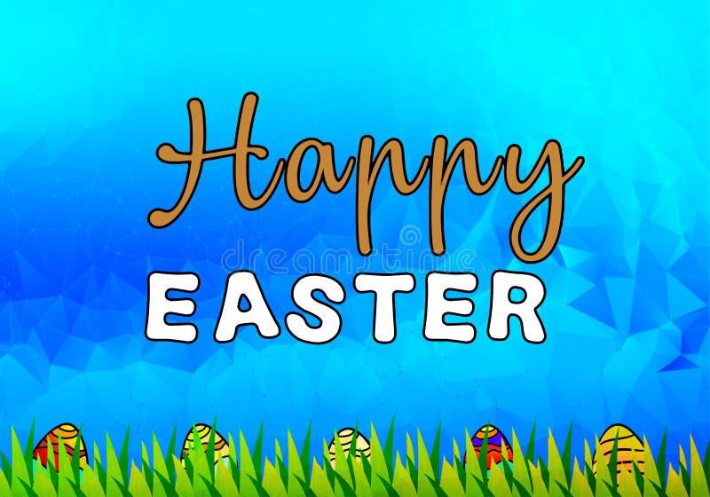Glücklicher Ostern-Illustrationshintergrund lizenzfreies stockbild